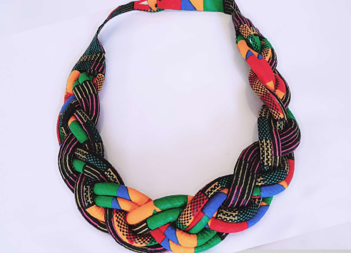 collier en wax multicolore